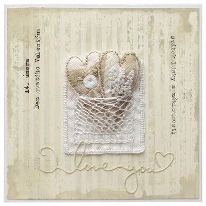 Obrázek Valentýnské přáníčko Dvĕ srdce