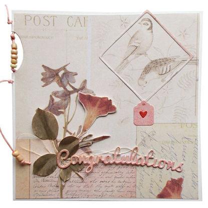Obrázek Přání do obálky Nĕžné s korálky
