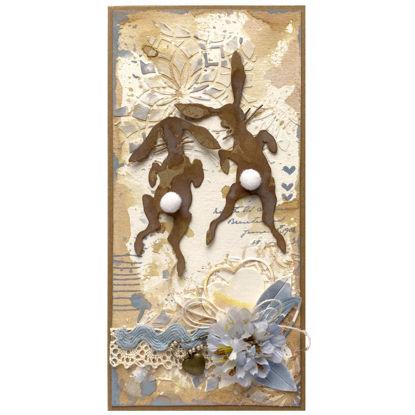 Obrázek Přáníčko do obálky Zajíci