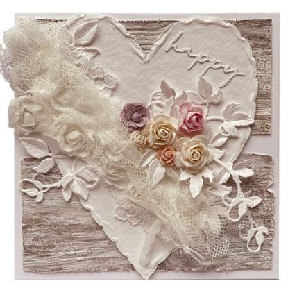 Obrázek Svatební přání Bílé srdce