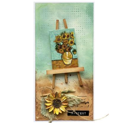 """Přáníčko do obálky Vincent van Gogh """"Slunečnice"""""""