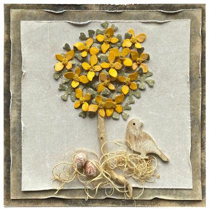 Obrázek Velikonoční přání Stromeček a hnízdo
