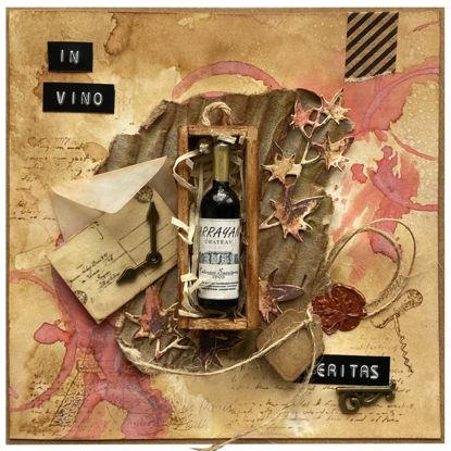 Přáníčko do obálky Červené víno v dárkovém balení