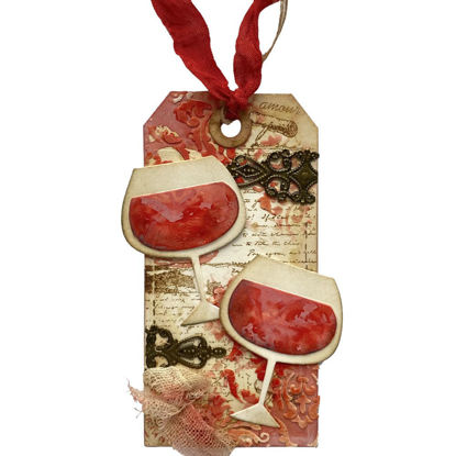 Obrázek Jmenovka na dárek (velká) Červené víno