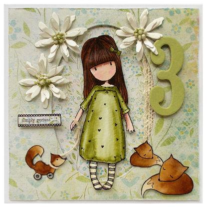Obrázek Přání k 3. narozeninám Holčička Gorjuss