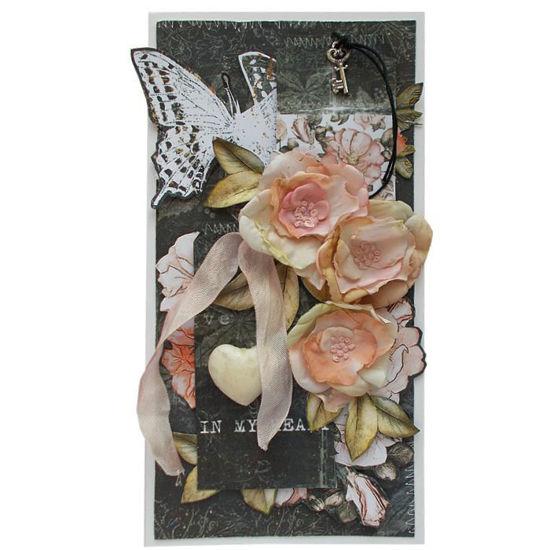 Svatební přání Růžové s motýlem