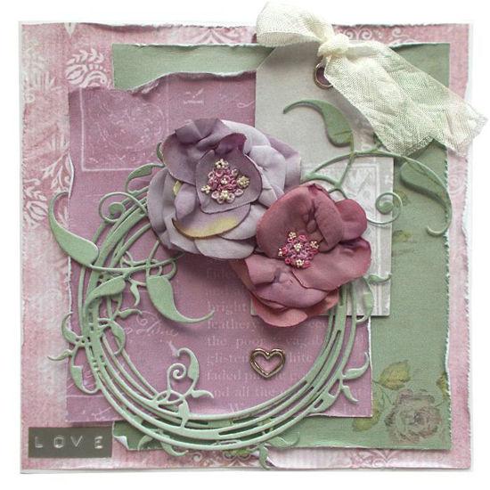 Svatební přáníčko Růžovo-fialové