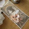 Svatební přání Hnědo-růžové