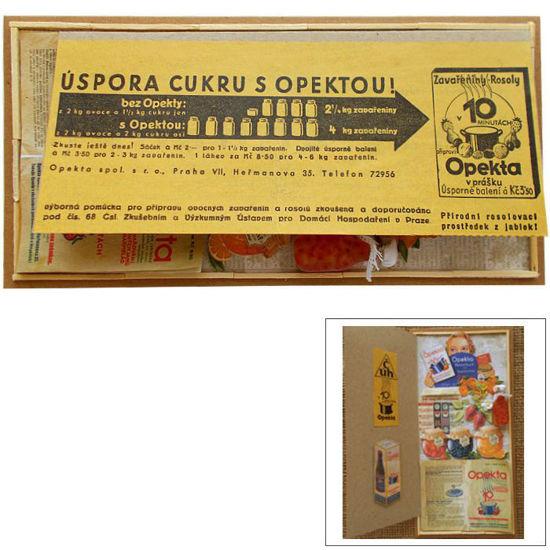 Přání retro koláž Opekta