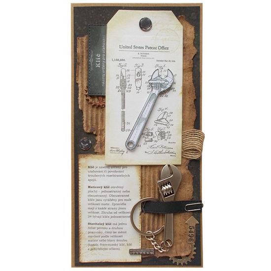 Obrázek Přání s dárkem Přívĕšek stavitelný klíč