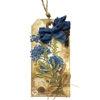 Obrázek Jmenovka na dárek (velká) Modré kvítí 1