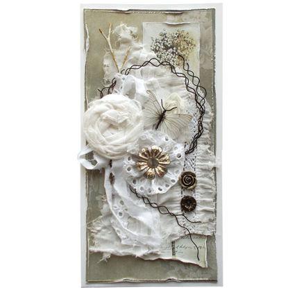 Obrázek Přáníčko do obálky Bílá a kov