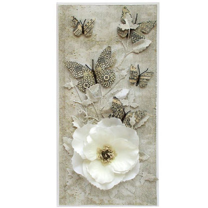 Obrázek Přání do obálky Kvĕt s motýlky