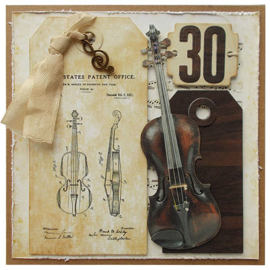Obrázek Přání k 30. narozeninám Housle
