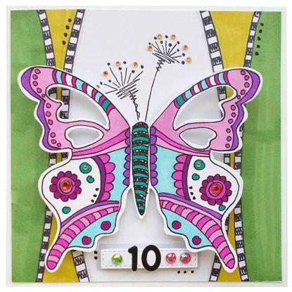 Obrázek Přání k 10. narozeninám Motýlek