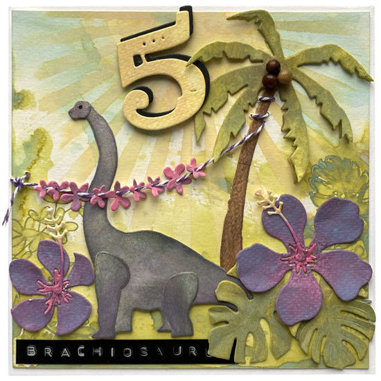 Obrázek Přání k 5. narozeninám Brachiosaurus na Havaji