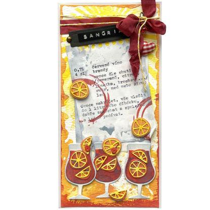 Obrázek Přání do obálky Sangria