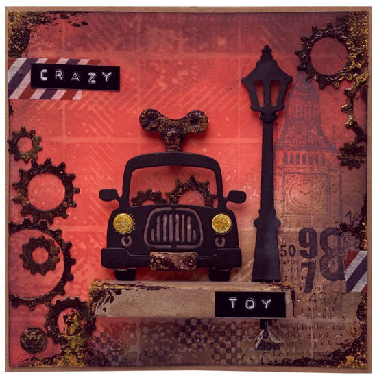 Obrázek Přáníčko do obálky Autíčko na klíček