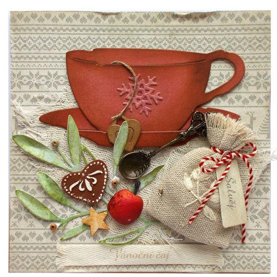 Obrázek Vánoční přání Vánoční čaj s šalvějí