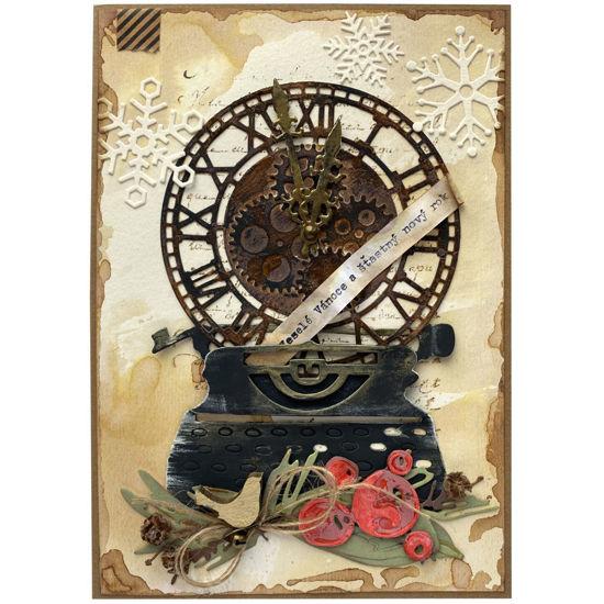 Obrázek Vánoční přání Psací stroj 2