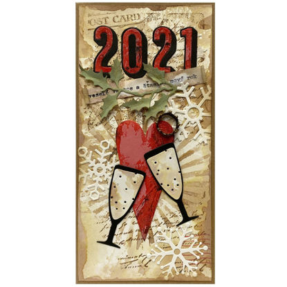 Obrázek Vánoční přání Novoroční přípitek