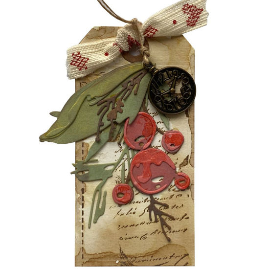 Obrázek Jmenovka na dárek (velká) Vánoční bobule