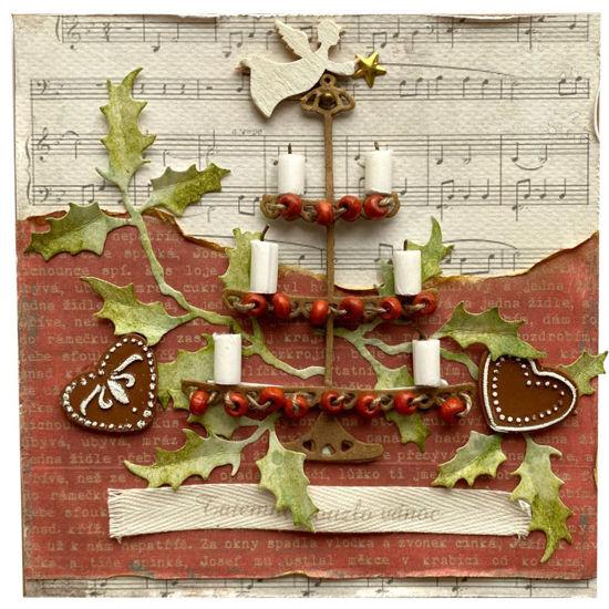 Obrázek Vánoční přání Svícen