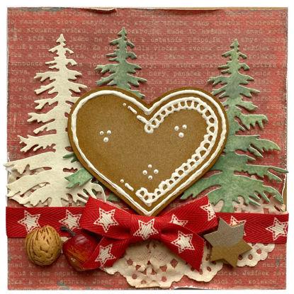 Obrázek Vánoční přání Perníkové srdce 1