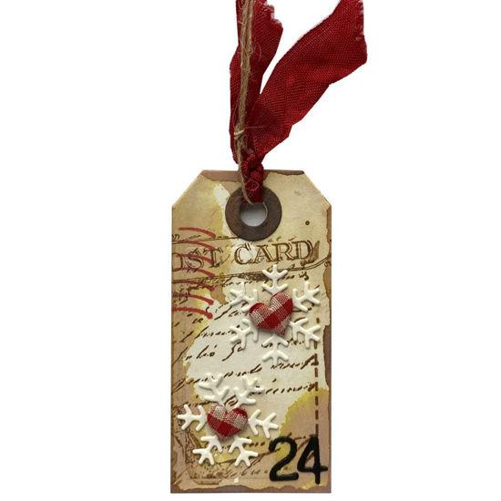 Obrázek Jmenovka na dárek (malá) Vločky
