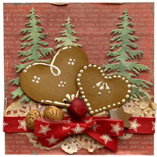 Obrázek Vánoční přání Perníkové srdce 2