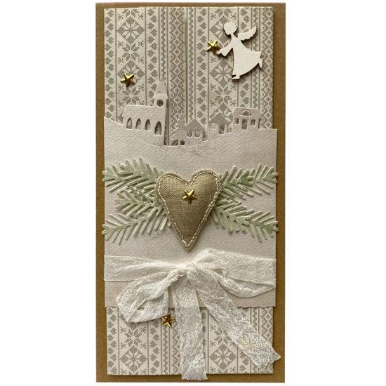 Obrázek Vánoční přání na peníze Srdce