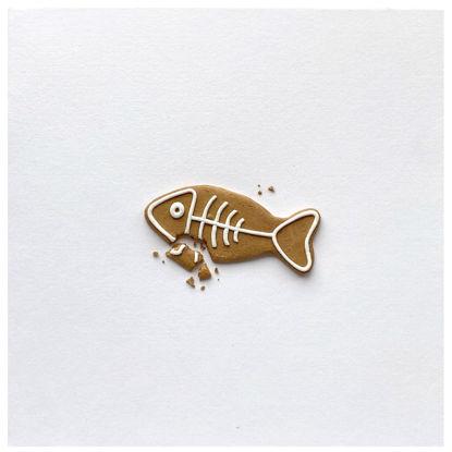Obrázek Vánoční přání Perníček ryba 3