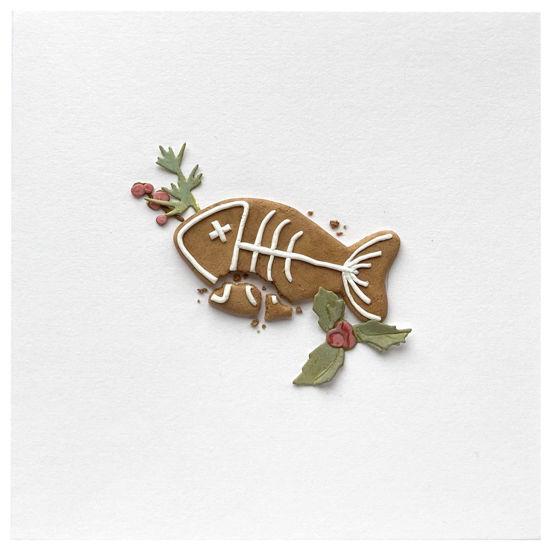 Obrázek Vánoční přání Perníček ryba 6