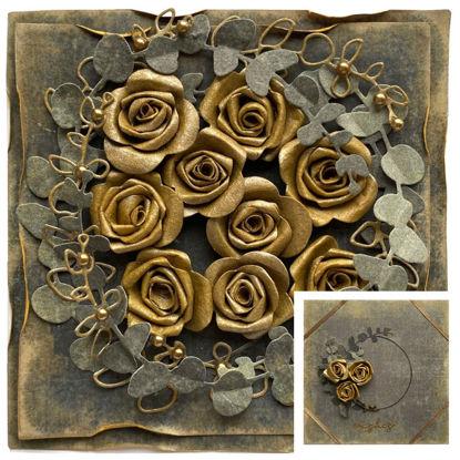 Obrázek Přání na peníze s krabičkou Zlaté růže