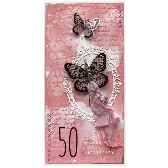 Obrázek Přání k 50. narozeninám S křídly