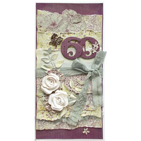 Obrázek Přání k 60. narozeninám Květinové