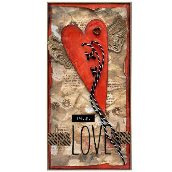 Obrázek Valentýnské přáníčko Velké srdce