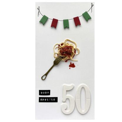 Obrázek Přání k 50. narozeninám Špagety