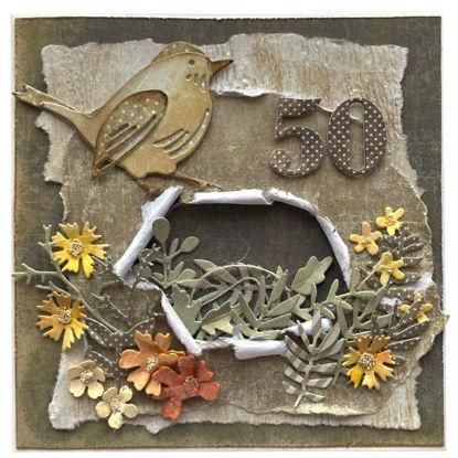 Obrázek Přání k 50. narozeninám Ptáček