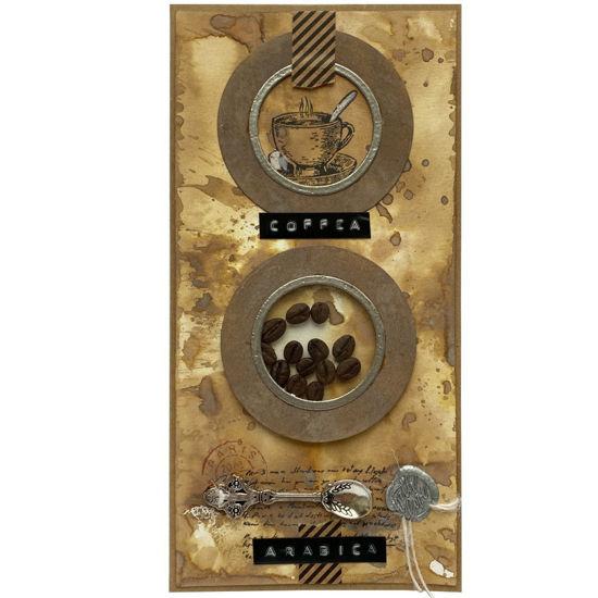 Obrázek Přáníčko do obálky Kávové