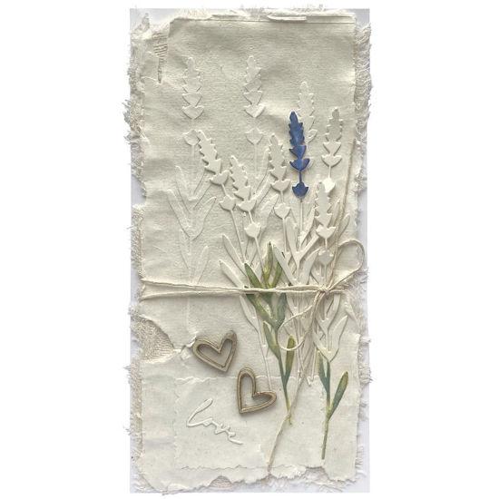 Papírové vytlačované přáníčko z přírodních surovin