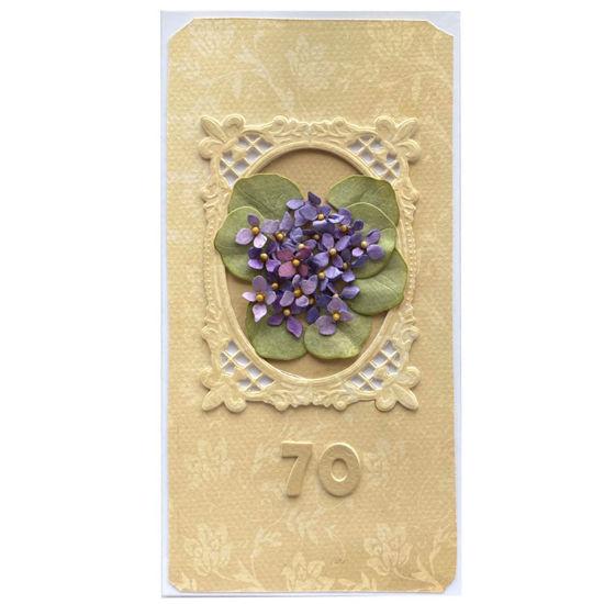 Obrázek Přáníčko k 70. narozeninám Obraz květin