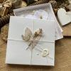 Obrázek Přání na peníze s krabičkou Bílé květy