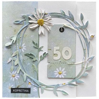 Obrázek Přání k 50. narozeninám Kopretinové