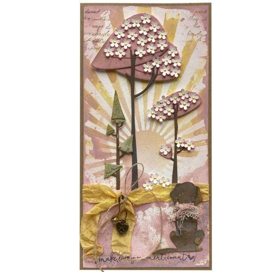 Obrázek Přáníčko do obálky Pejsek pod sakurami