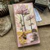 Přáníčko s rozkvetlými sakurami a pejskem