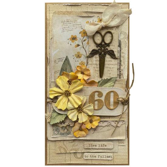 Obrázek Přání k 60. narozeninám Žluté květy