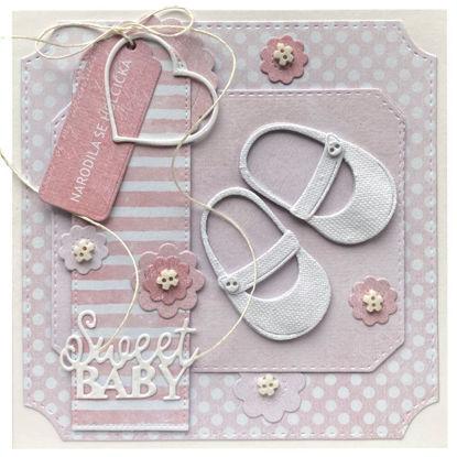 Obrázek Přání k narození miminka Botičky pro holčičku