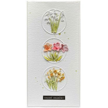 Obrázek Přáníčko do obálky Jarní kytičky