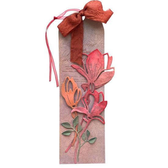 Obrázek Jmenovka na dárek (dlouhá) Červené květy